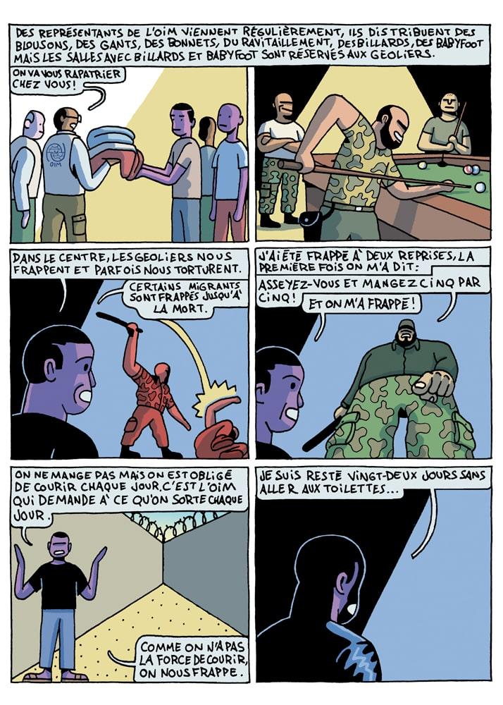 Pierre Ferrero bande dessinée reportage Lybie 2