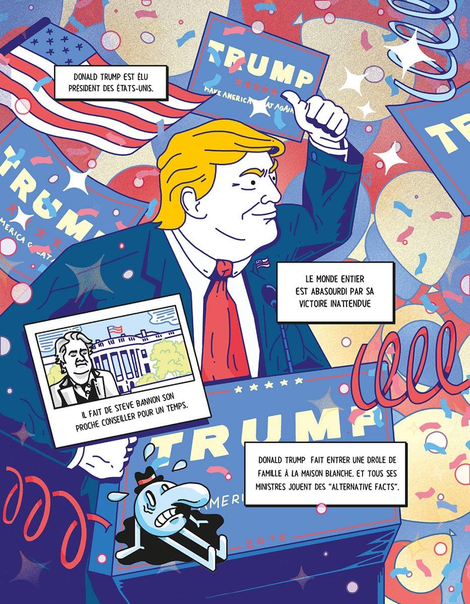 Henri Lemahieu illustration Trump