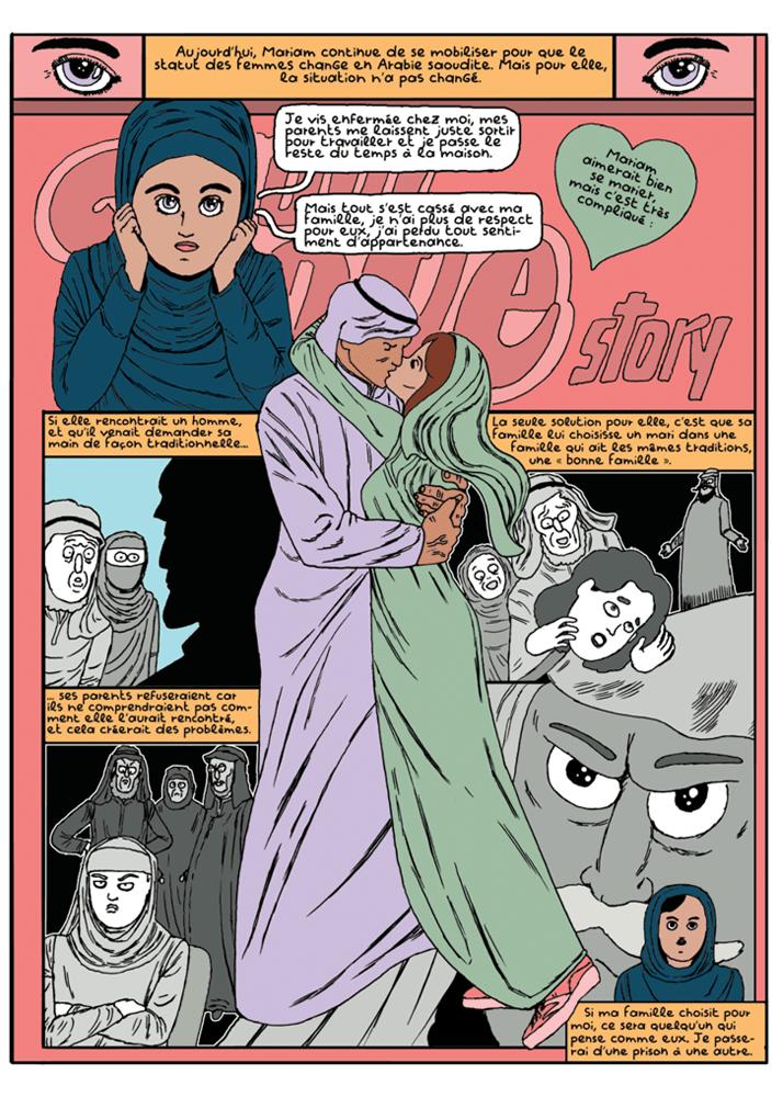 Léon Maret bande dessinée reportage amour Arabie saoudite 1